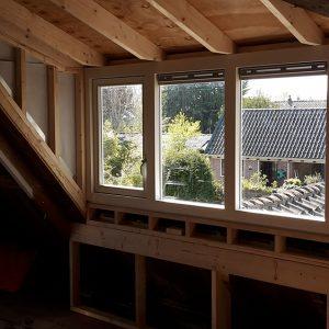 dakkapel buitenkant in aanbouw Van Langen Timmerbedrijf-