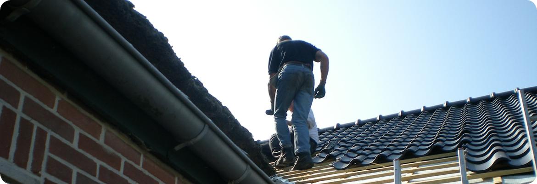 renovatie dak met dakpannen gerealiseerd door Van Langen Timmerbedrijf