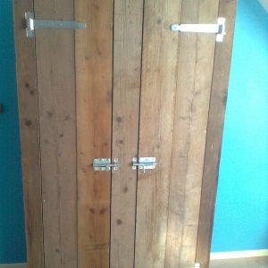 houten kast Van Langen Timmerbedrijf