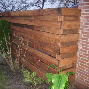 houten schutting Van Langen Timmerbedrijf